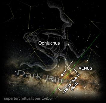 vénusz sötét hasadék