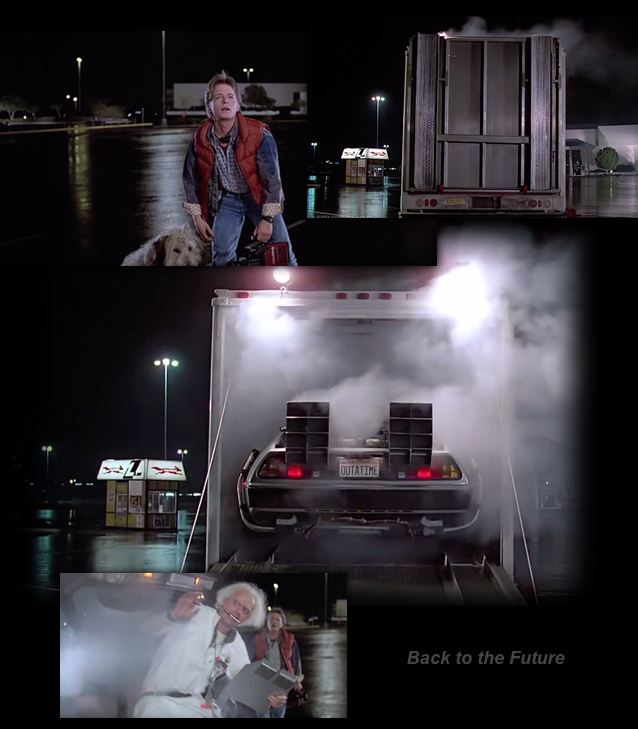 This Is Heavy - The SpaceX Falcon Heavy Stargate Event BTTF-DeLorean-truck