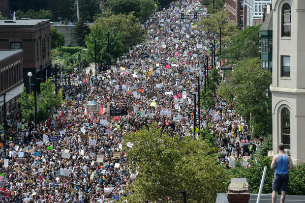 Thousands March in Boston for Counter-Protest to right-wing rally