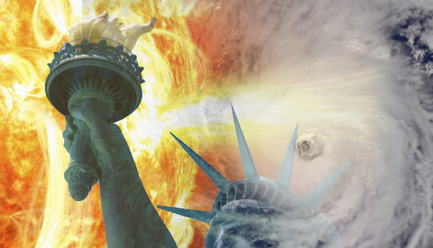 Judgment Storms: X-flare, Irma & American Dream