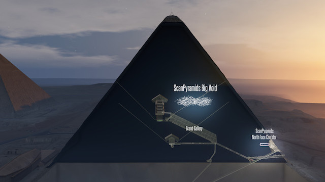 Great Pyramid Stargate ~ Egypt archaeologist criticises pyramid void 'discovery' ScanPyramids-GP-void