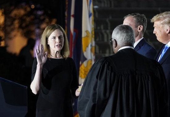 Barrett confirmed as Supreme Court justice