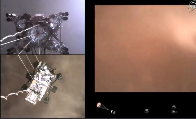 Incredible Mars landing video!