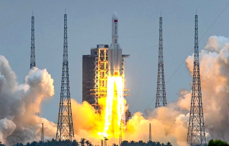 China launches 1st crewed mission to its new space station